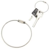 Outdoor Camping Multifunctional Steel Wire Rope Ring / Stainless Steel Wire Key Chain (Silver)