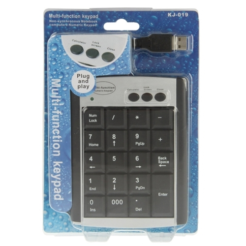 AFANG Keyboard USB Non-synchronous Notebook Computer Multi Function Keypad with 19 Keys