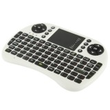 UKB-5400-RF 2.4GHz Mini Wireless Keyboard Mouse Combo with Touchpad & USB Receiver, English Keyboard / Russian Keyboard  (White)