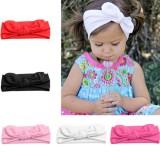 Girl Baby Toddler Kid Stretch Rabbit Bow Headband Turban Knot Hairband Head Wrap