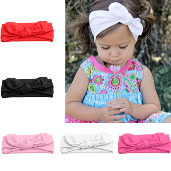 ... Kid Stretch Rabbit Bow Headband Turban Knot Hairband Head Wrap. 9. ...