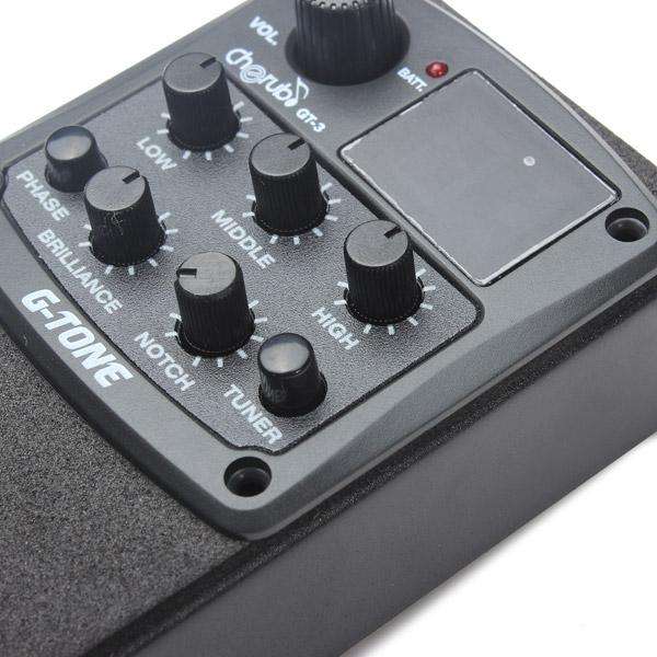Cherub G-Tone 3-Band EQ Equalizer Acoustic Guitar Preamp Pickup Tuner