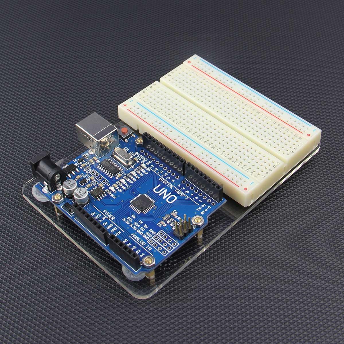 Acrylic experimental platform for arduino uno r board