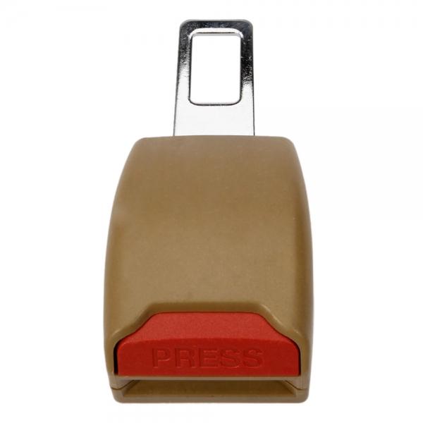 Metal Amp Plastic Car Safety Seat Belt Snap Buckle Beige