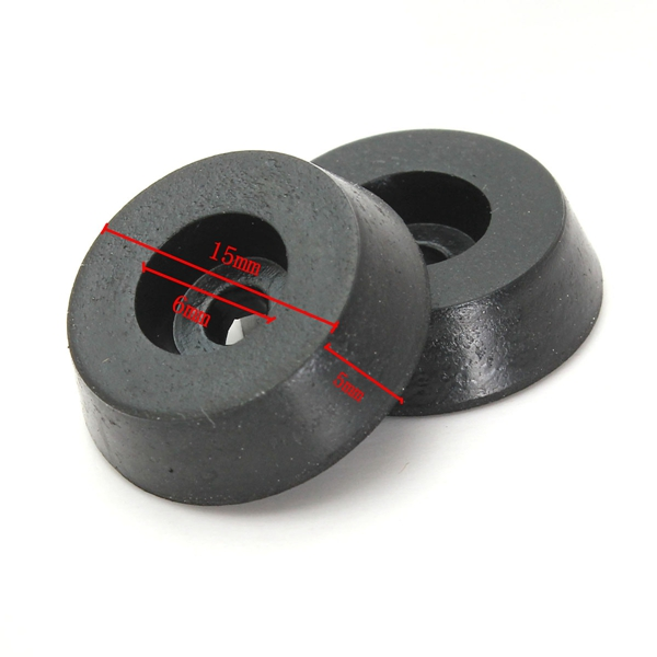 20pcs 18mm Diameter Furniture Table Chair Foot Rubber Pad