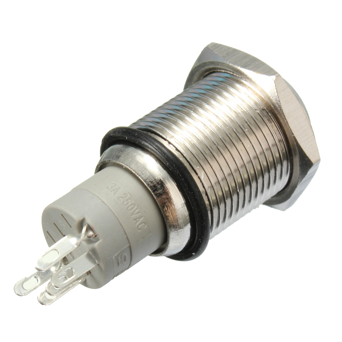 12v 16mm Waterproof Momentary Horn Metal Push Button