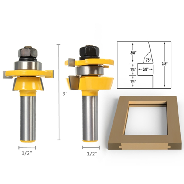 ... SKU2235966.jpg; SKU2235967.jpg  sc 1 st  Alexnld.com & Shaker Bevel Rail And Stile Glue Joint Router Bit For Cabinet Door 1 ...