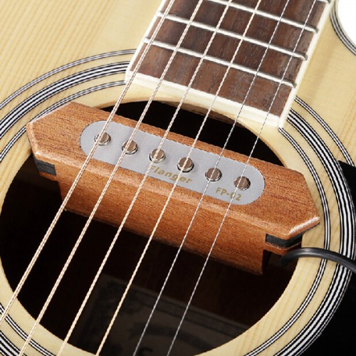 Flanger FP-2 Sound-hole Pickup Transducer Wooden For Acoustic Guitar