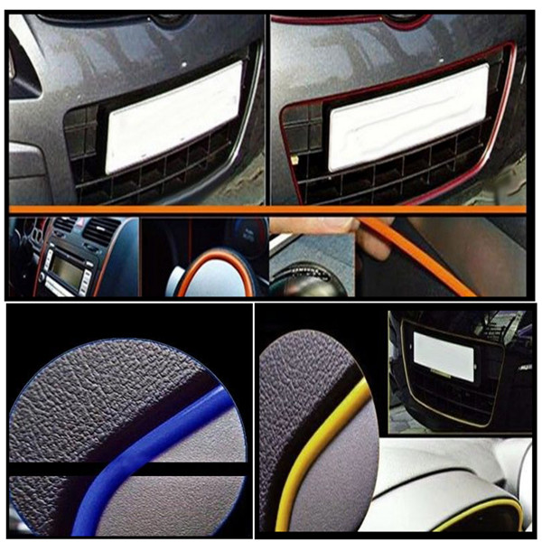 5m flexible trim fashion car interior exterior moulding strip decorative line alex nld
