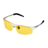 UV400 Men Polarized Sunglasses Yellow Lens Night VISION Driving Fishing Cycling glasses