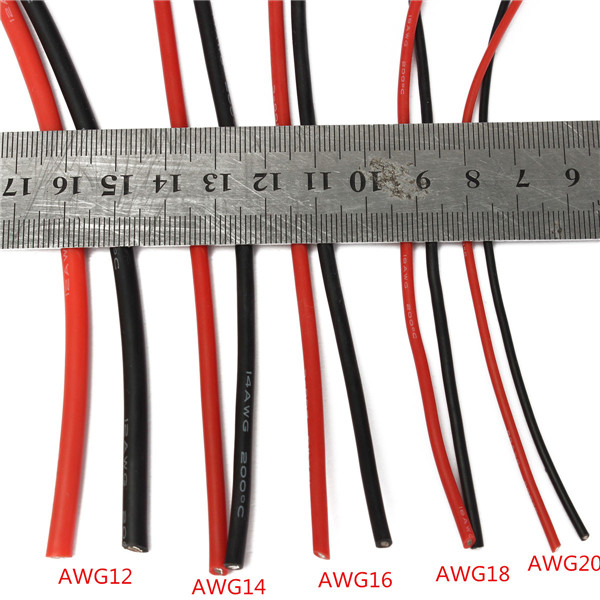 2m Awg Soft Silicone Flexible Wire Cable 12 20 Awg 1