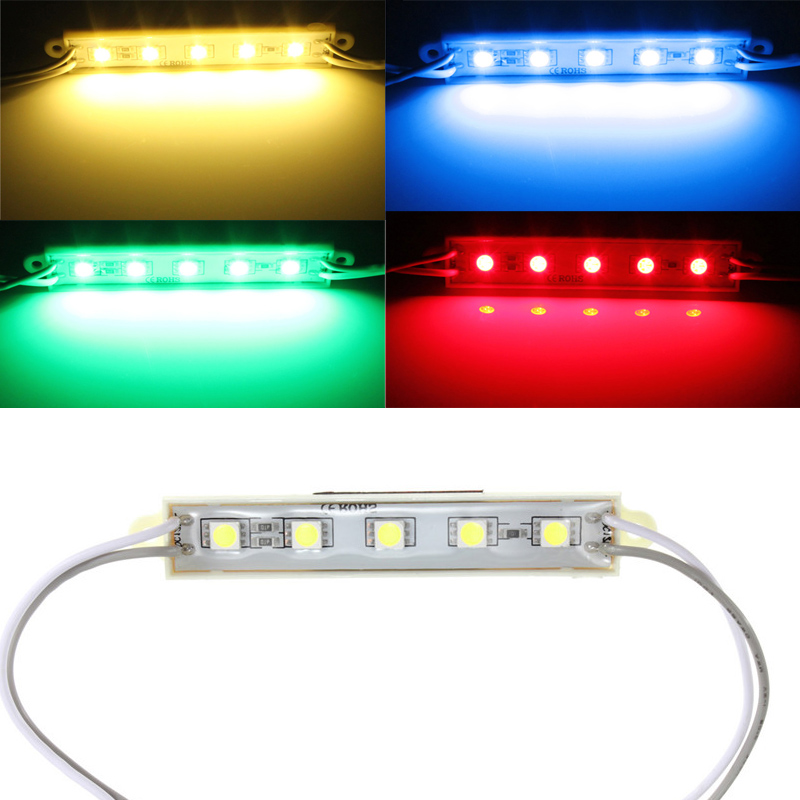 12v Led Strip Lights >> 5 Colors 5 SMD 5050 LED Module Light Waterproof Strip Light Lamp 12V | Alex NLD