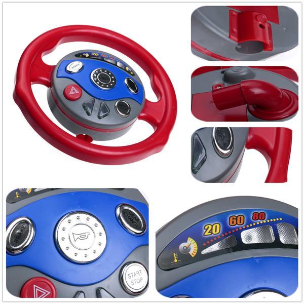 Car Seat Toy Steering Wheel : Kids back window seat toy car steering wheel game horn