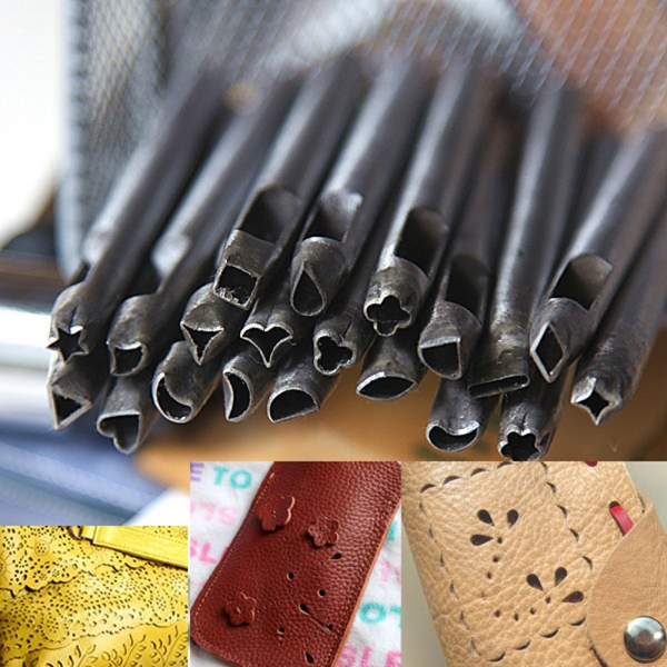 20pcs 5mm Diy Leather Working Punches Making Tools