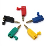 5 Colors 2mm Banana Gold Plated Plug Connector Jack For Speaker Amplifier Test Probes Terminals Cooper