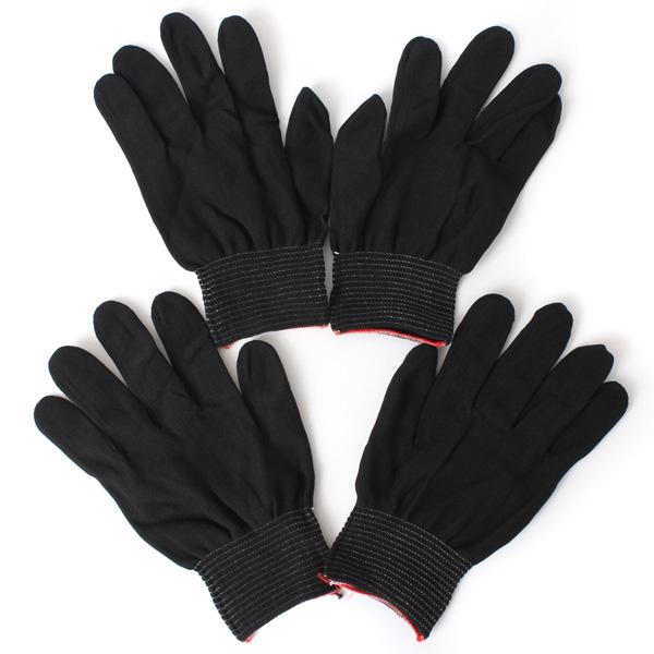 Nylon glove games on cock