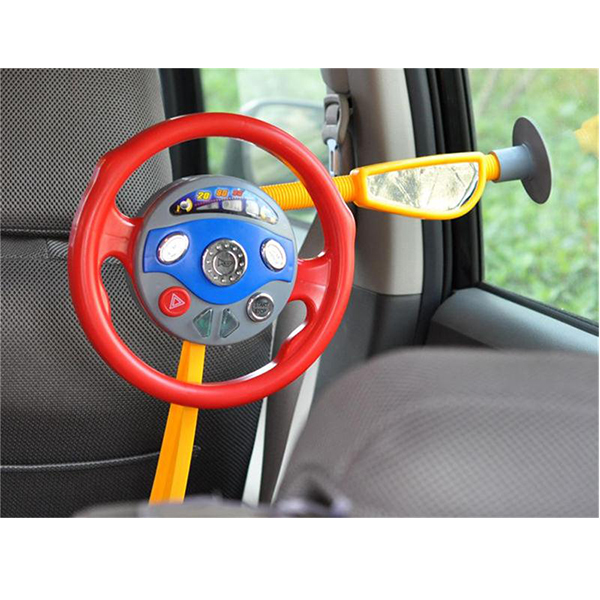 Kids Back Window Seat Toy Car Steering Wheel Game Horn Electronic Sounds Light 1 2 3