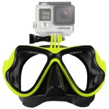 Water Sports Diving Equipment Diving Mask Swimming Glasses for GoPro HERO4 /3+ /3 /2 /1 (Green)