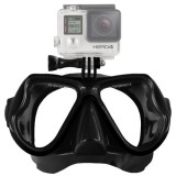 Water Sports Diving Equipment Diving Mask Swimming Glasses for GoPro HERO4 /3+ /3 /2 /1 (Black)