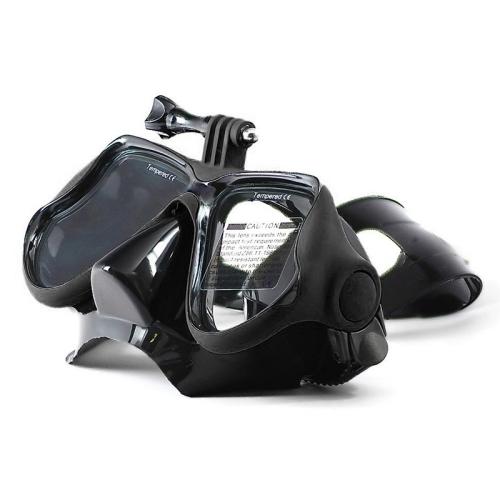 Water Sports Diving Equipment Diving Mask Swimming Glasses for GoPro HERO4 /3+ /3 /2 /1 (Black)