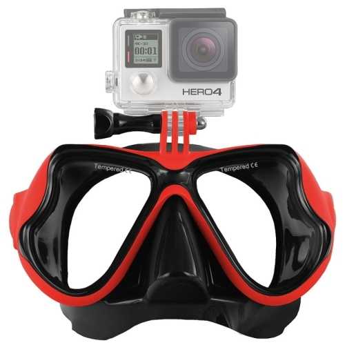 Water Sports Diving Equipment Diving Mask Swimming Glasses for GoPro HERO4 /3+ /3 /2 /1 (Red)