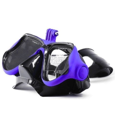 Water Sports Diving Equipment Diving Mask Swimming Glasses for GoPro HERO4 /3+ /3 /2 /1 (Blue)