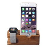 Bamboo Wooden Charger Holder for Apple Watch 38mm & 42mm / iPhone 6 & 6 Plus / iPhone 5 & 5S & 5C