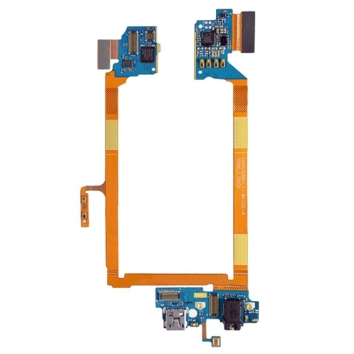 USB Charging Connector Port Flex Cable & Earphone Audio Jack Flex Cable & Microphone Flex Cable Replacement for LG G2 / VS980