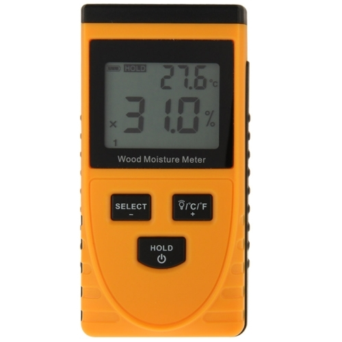 Digital wood moisture meter with lcd orange alex nld for Wood floor moisture meter