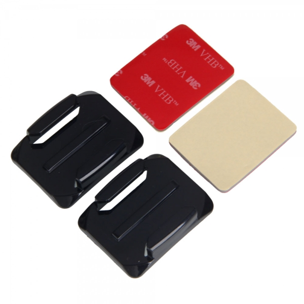 2pcs Curved Surface Mounts with 3M VHB Adhesive Pads for GoPro 3/2/1 | Alexnld.com