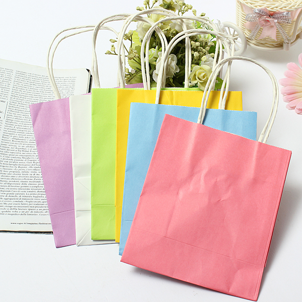 Wedding Gift Bags With Handles : ... Kraft Paper Gift Bag Wedding Party Handle Paper Gift Bags Alex NLD
