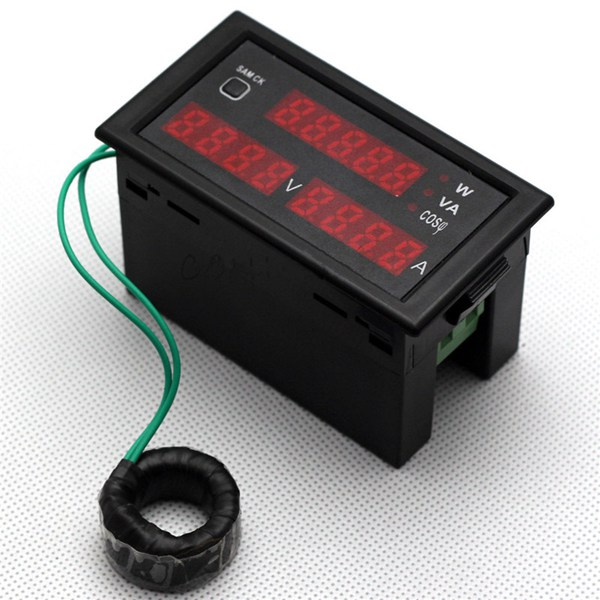 Ac Power Meter : Ac v a digital watt power meter alex nld
