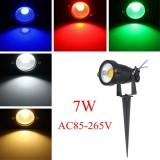7W IP65 LED Flood Light With Rod For Outdoor Landscape Garden Path AC85-265V