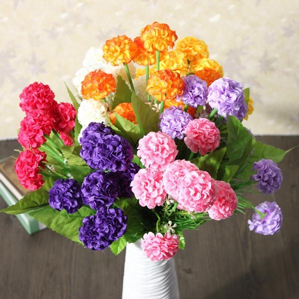 Artificial Daisy Chrysanthemum Silk Flowers Floral Bouquet 8 Heads