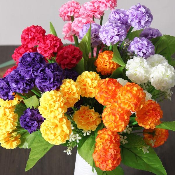 Artificial daisy chrysanthemum silk flowers floral bouquet 8 heads 7 sku222845bg mightylinksfo