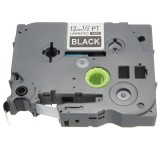 White On Black Label Tape Compatible For Brother P-Touch TZ335 12mm