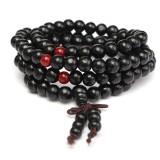 108Pcs 8mm Multilayer Sandalwood Buddha Prayer Beads Bracelet Necklace