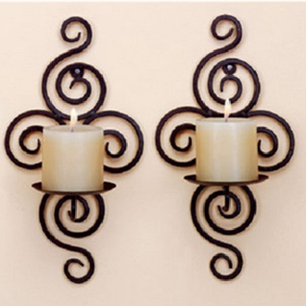candle holder wall hanging sconce furnishing articles handmade iron alex nld. Black Bedroom Furniture Sets. Home Design Ideas