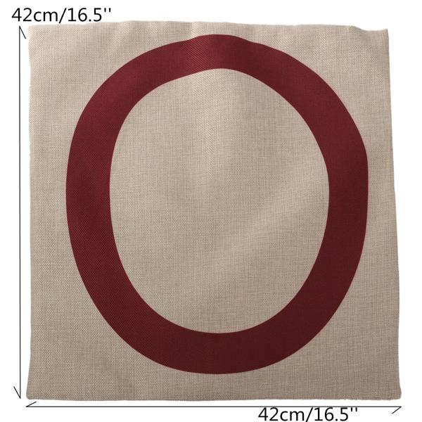 Linen Cotton Love Letter Throw Pillow Case Cushion Cover Sofa Decor