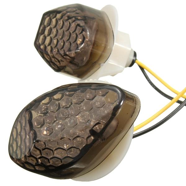 1 Pair Amber LED Turn signal Indicator Light For Honda CBR600RR 03-12 CBR1000RR 04-07