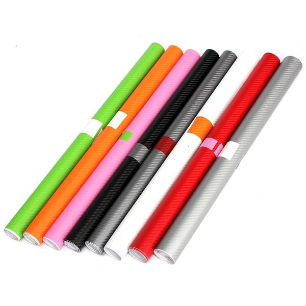 2mx50cm Diy Gloss 3d Carbon Fiber Vinyl Wrap Roll Film