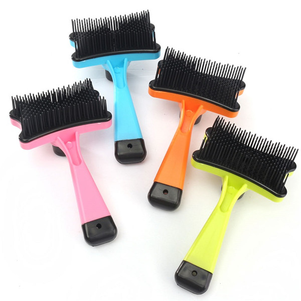 Pet Dog Cat Hair Shedding Remove Fur Grooming Rake Comb Brushes Tools