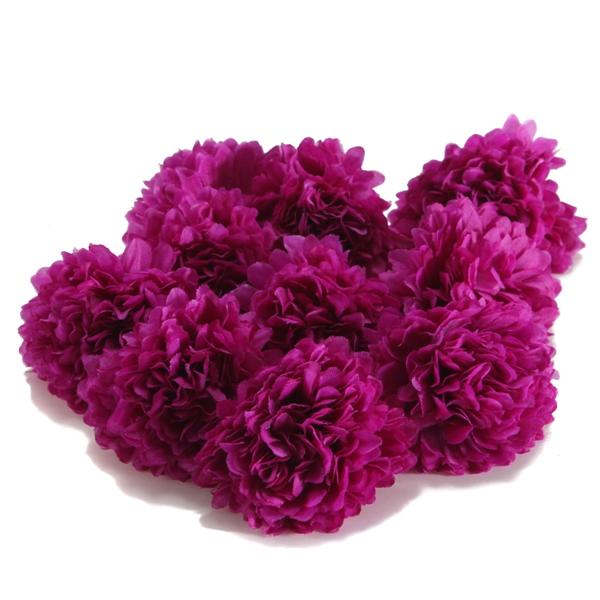 10Pcs Artificial Daisy Mum Flower Silk Spherical Heads
