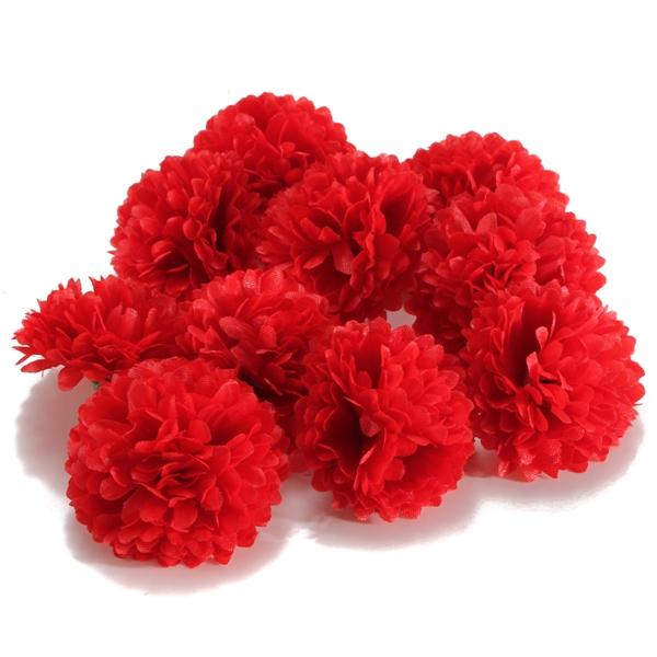 10pcs artificial daisy mum flower silk spherical heads bulk home sku248810cg mightylinksfo