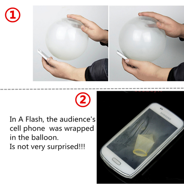 Close-Up Magic Street Trick Mobile Into Balloon Penetration In A Flash Party