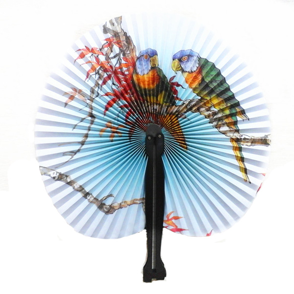 portable classic hand fan vintage folding fans round circular paper