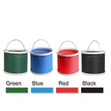 9L Holding Bucket Multi-functional Portable Bucket Car Washing Bucket Oxford Cloth Bucket