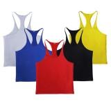 Men Summer Cotton Plain Gym Tank Top Sleeveless T-shirt Workout Bodybuilding Clothes Singl