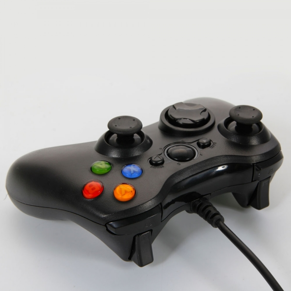 USB Wired Controller for Xbox 360 & Windows PC Black ...