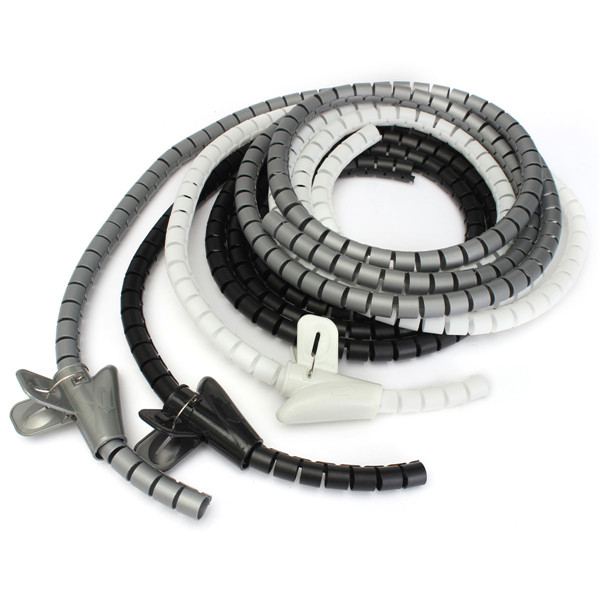 2m Cable Tidy Wire Organising Tool Kit Spiral Wrap Home Office ...